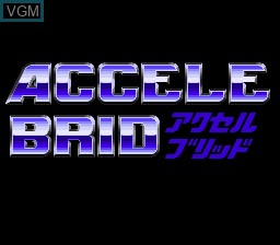 Title screen of the game Accele Brid on Nintendo Super NES