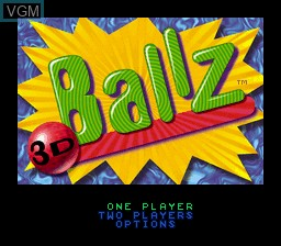 Title screen of the game Ballz 3D on Nintendo Super NES
