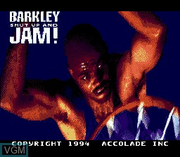 Title screen of the game Barkley Shut Up and Jam! on Nintendo Super NES