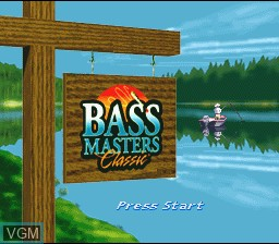 Title screen of the game BASS Masters Classic on Nintendo Super NES