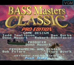 Title screen of the game BASS Masters Classic - Pro Edition on Nintendo Super NES