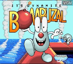 Title screen of the game Bombuzal on Nintendo Super NES