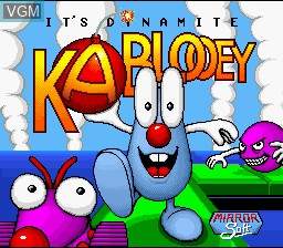 Title screen of the game Kablooey on Nintendo Super NES