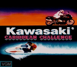 Title screen of the game Kawasaki Caribbean Challenge on Nintendo Super NES
