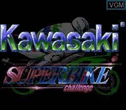 Title screen of the game Kawasaki Superbike Challenge on Nintendo Super NES