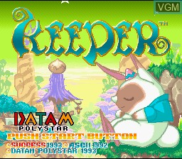 Title screen of the game Keeper on Nintendo Super NES