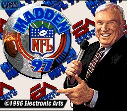 Title screen of the game Madden NFL '97 on Nintendo Super NES