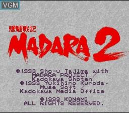 Title screen of the game Moryou Senki Madara 2 on Nintendo Super NES