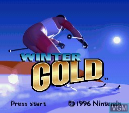 Title screen of the game Winter Gold on Nintendo Super NES