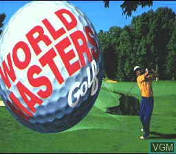 Title screen of the game World Masters Golf on Nintendo Super NES