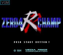 Title screen of the game Zero 4 Champ RR on Nintendo Super NES