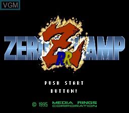 Title screen of the game Zero 4 Champ RR-Z on Nintendo Super NES