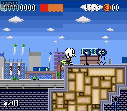 Menu screen of the game Action Pachio on Nintendo Super NES