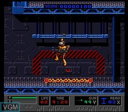 Menu screen of the game B.O.B. on Nintendo Super NES
