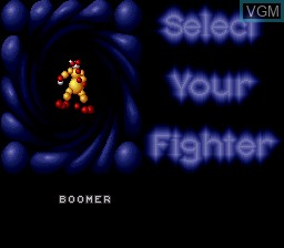 Menu screen of the game Ballz 3D on Nintendo Super NES