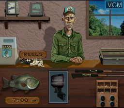 Menu screen of the game BASS Masters Classic - Pro Edition on Nintendo Super NES