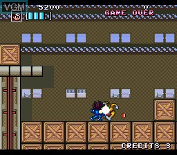 Menu screen of the game Kaizou Choujin Shubibinman Zero on Nintendo Super NES