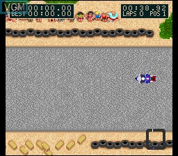 Menu screen of the game Kawasaki Caribbean Challenge on Nintendo Super NES
