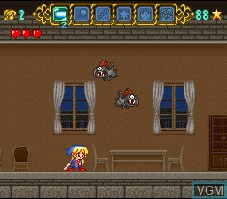 Menu screen of the game Magical Pop'n on Nintendo Super NES