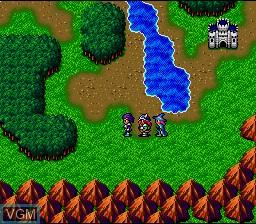 Menu screen of the game Magna Braban - Henreki no Yuusha on Nintendo Super NES