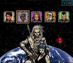Menu screen of the game Maten Densetsu - Senritsu no O-parts on Nintendo Super NES
