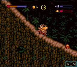 Menu screen of the game Radical Rex on Nintendo Super NES