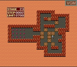 Menu screen of the game Super Soukoban on Nintendo Super NES