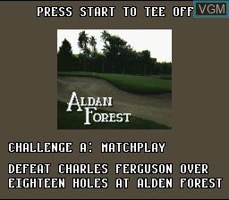Menu screen of the game World Masters Golf on Nintendo Super NES