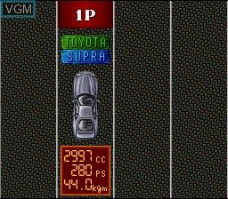 Menu screen of the game Zero 4 Champ RR-Z on Nintendo Super NES