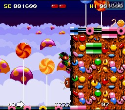 Menu screen of the game Zool - Ninja of the Nth Dimension on Nintendo Super NES