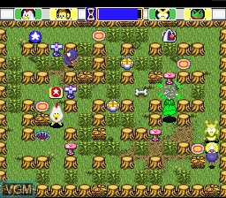 In-game screen of the game Bakuto Dochers on Nintendo Super NES