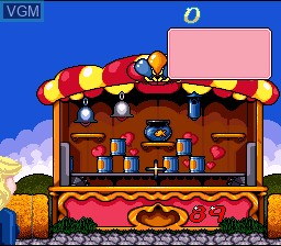In-game screen of the game Barbie Vacation Adventure on Nintendo Super NES
