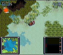 In-game screen of the game Bassin's Black Bass on Nintendo Super NES