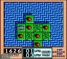 In-game screen of the game Bombuzal on Nintendo Super NES