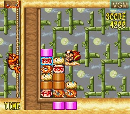 In-game screen of the game Dharma Doujou on Nintendo Super NES