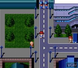 In-game screen of the game Hero Senki - Project Olympus on Nintendo Super NES