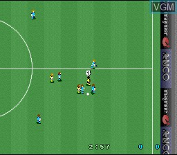 In-game screen of the game Kevin Keegan's Player Manager on Nintendo Super NES