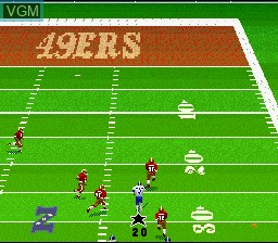 In-game screen of the game Madden NFL '96 - Reviewer Version on Nintendo Super NES