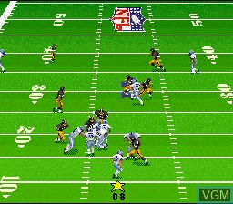 In-game screen of the game Madden NFL '97 on Nintendo Super NES