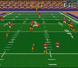 In-game screen of the game ABC Monday Night Football on Nintendo Super NES