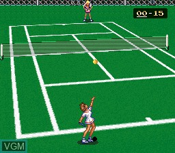 In-game screen of the game Ace wo Nerae! on Nintendo Super NES