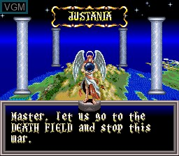 In-game screen of the game ActRaiser 2 on Nintendo Super NES