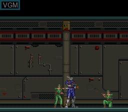 In-game screen of the game Appleseed - Prometheus no Shintaku on Nintendo Super NES