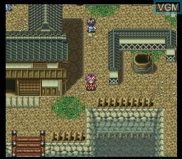 In-game screen of the game Bakumatsu Kourinden Oni on Nintendo Super NES