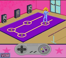 In-game screen of the game Barbie Super Model on Nintendo Super NES