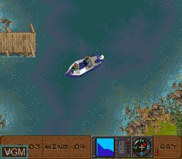 In-game screen of the game BASS Masters Classic on Nintendo Super NES