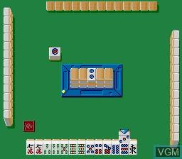 In-game screen of the game Kabuki Machi Reach Mahjong on Nintendo Super NES