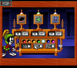 In-game screen of the game ACME Animation Factory on Nintendo Super NES