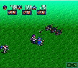 In-game screen of the game Magna Braban - Henreki no Yuusha on Nintendo Super NES