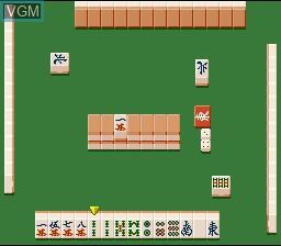 In-game screen of the game Mahjong Gokuu Tenjiku on Nintendo Super NES